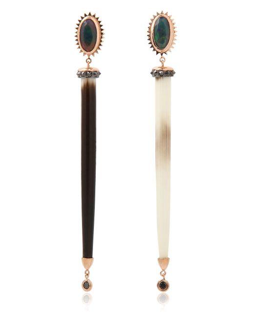 Daniela Villegas | Black Spike Earrings | Lyst