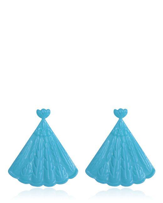 Mariah Rovery | Blue Brinco Leque Earrings | Lyst