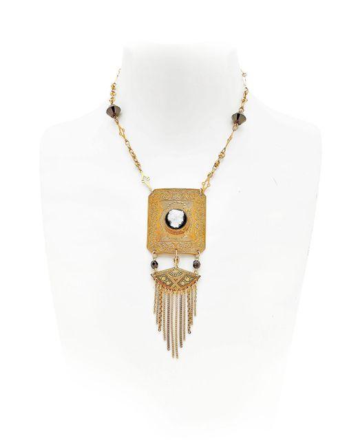 Maria Zureta | Metallic Cameo Necklace | Lyst
