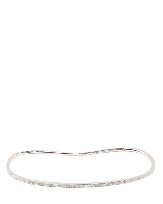 Gaydamak | White One Collection Diamond Hand Bracelet | Lyst