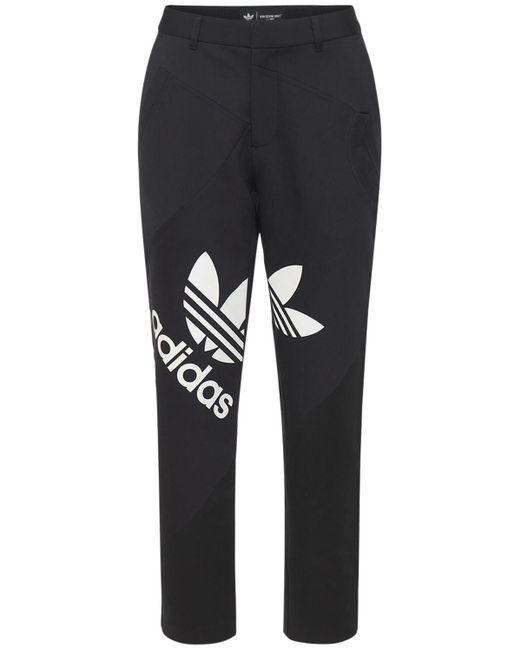 Adidas Originals コットンスーツパンツ Black