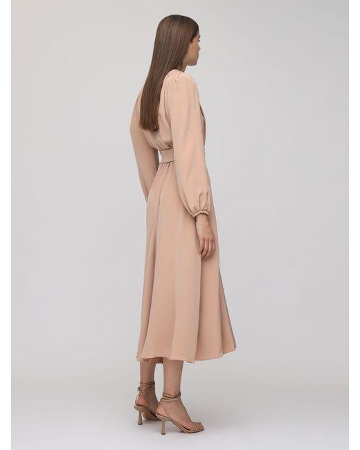 Maria Lucia Hohan Rury ラップクレープドレス Natural