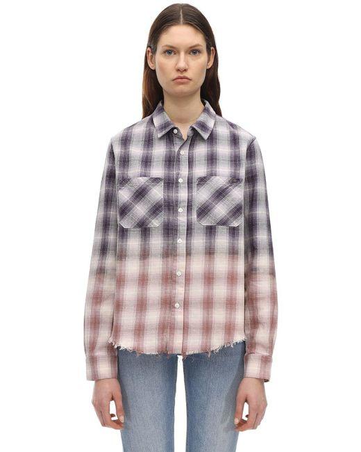 Фланелевая Рубашка С Люрексом Amiri, цвет: Multicolor