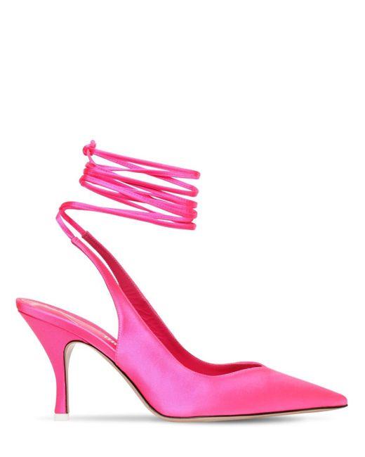 The Attico サテンパンプス 85mm Pink