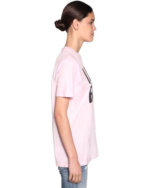 DSquared² コットンジャージーtシャツ Pink
