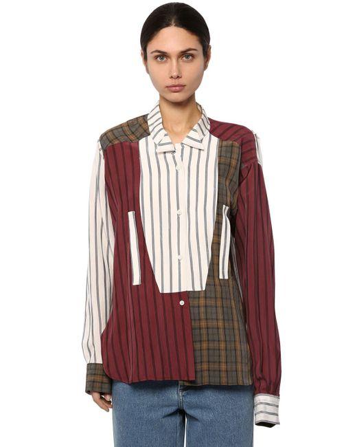 Loewe パッチワークシャツ Multicolor