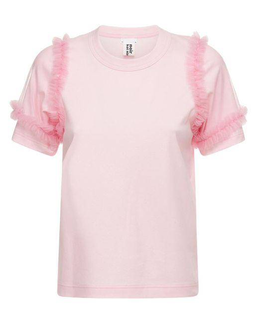 Noir Kei Ninomiya コットンジャージーtシャツ Pink