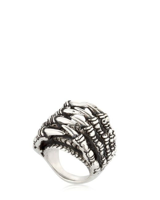 KD2024 - Metallic Ring Claw Tunnel Ring for Men - Lyst