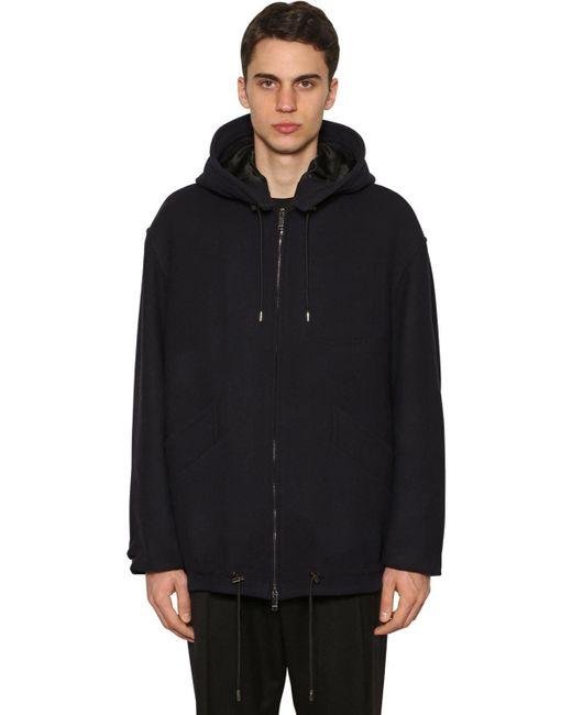 メンズ Valentino ウール混 カジュアルジャケット Black