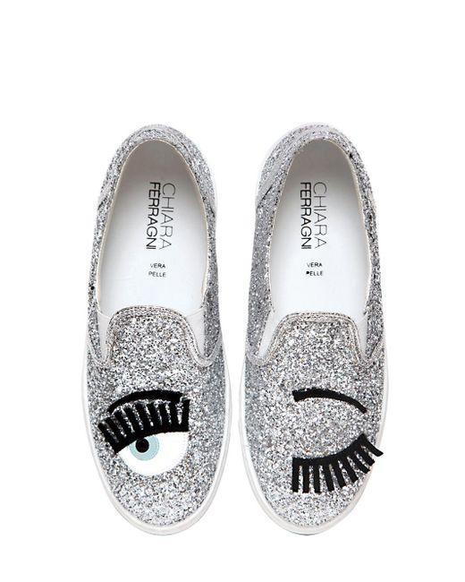 Chiara Ferragni | Metallic Flirting Sequinned Slip-On Sneakers | Lyst