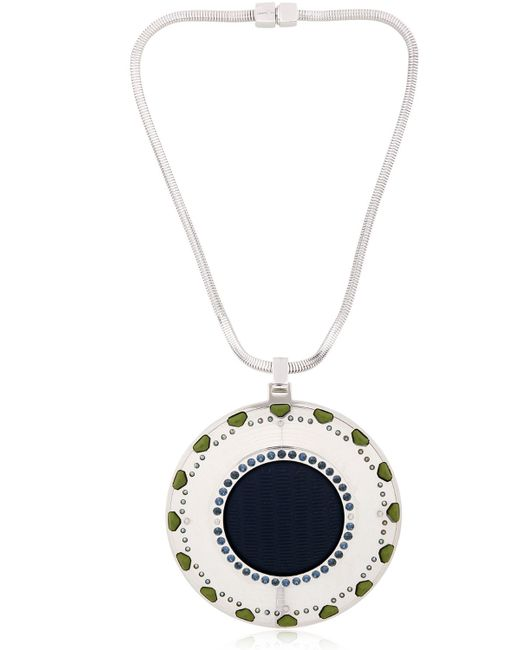 Ledaotto | Blue China Tennis Center Necklace | Lyst