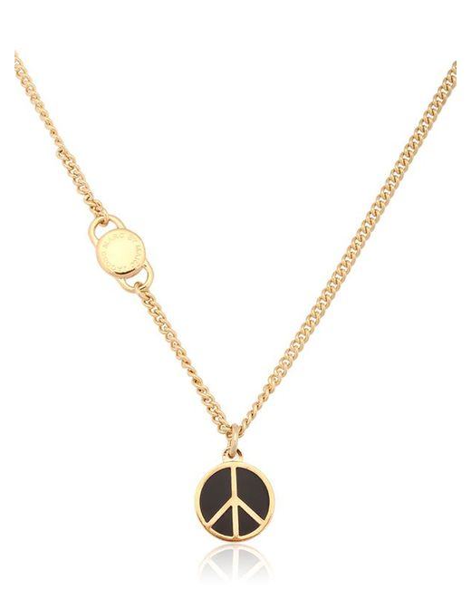 Marc By Marc Jacobs | Metallic Enameled Brass Peace Pendant Necklace | Lyst