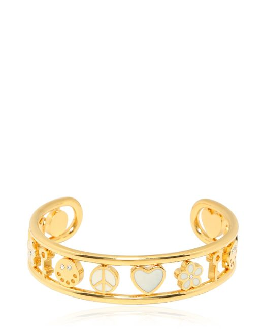 Marc By Marc Jacobs | Natural Enameled Happy House Cuff Bracelet | Lyst