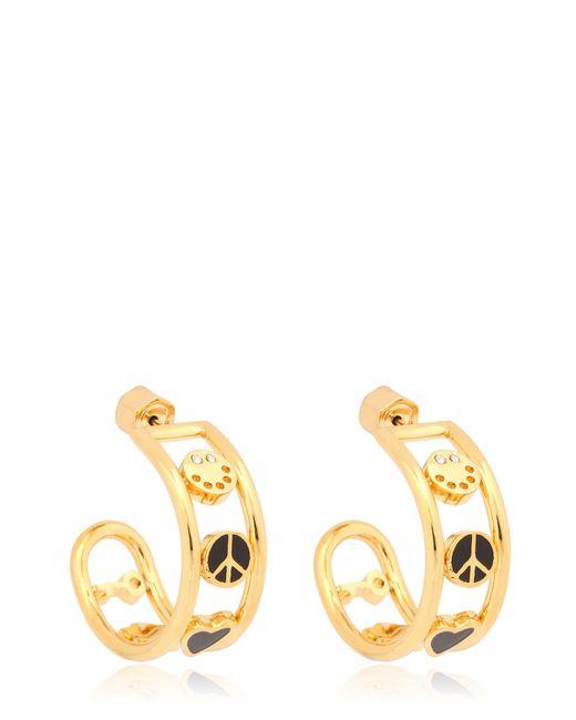 Marc By Marc Jacobs | Black Enameled Happy House Hoop Earrings | Lyst