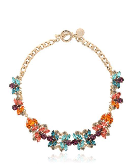 Anton Heunis | Metallic Flower Motif Necklace | Lyst