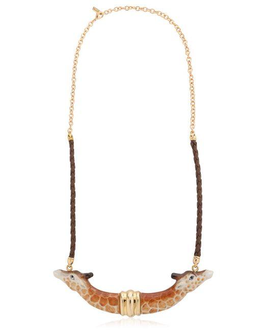 Nach   Brown Giraffe Necklace   Lyst