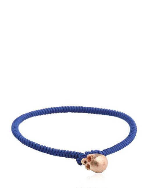 Luis Morais | Blue Large Half Skull Satin Finish Bracelet | Lyst