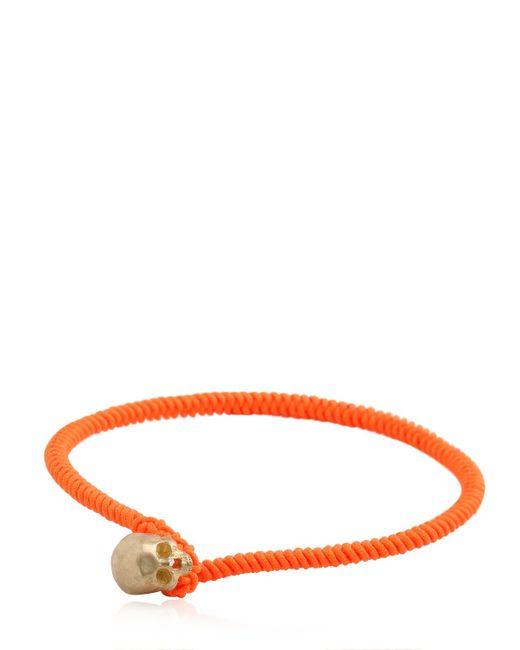 Luis Morais | Orange Large Half Skull Satin Finish Bracelet | Lyst