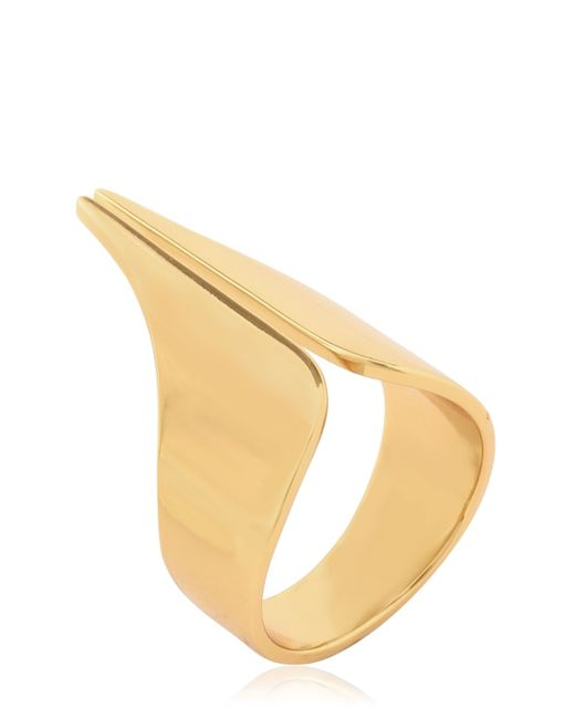 Ellen Conde | Metallic Set Of 4 Gold Plated Rings | Lyst