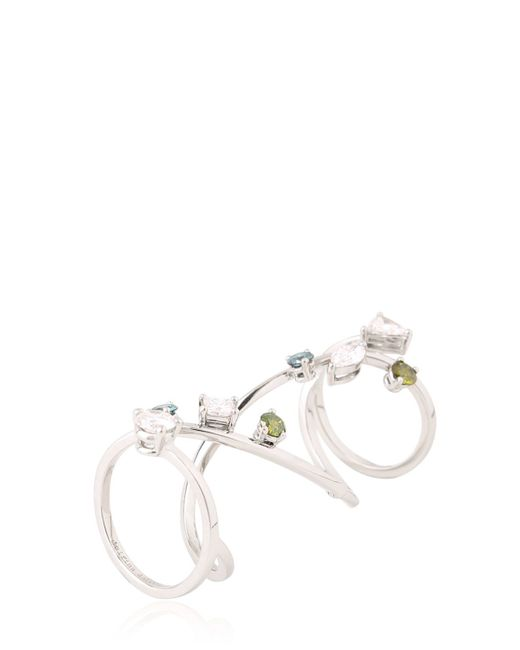 Delfina Delettrez | White Handroid Platinum Articulated Ring | Lyst