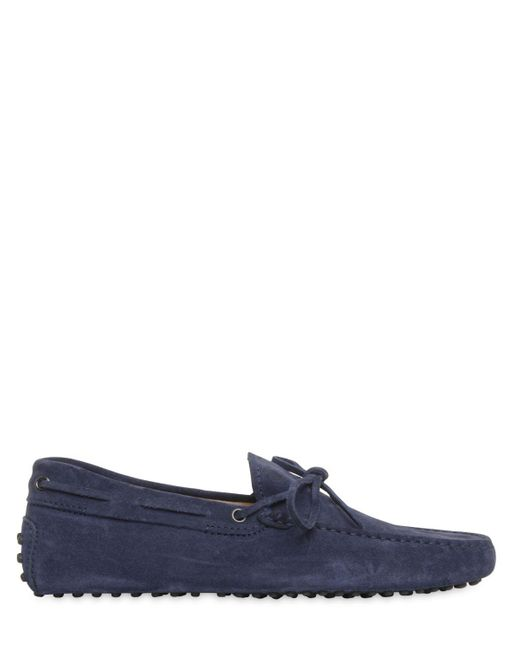 Tod's   Blue Gommino 122 Suede Driving Shoes for Men   Lyst