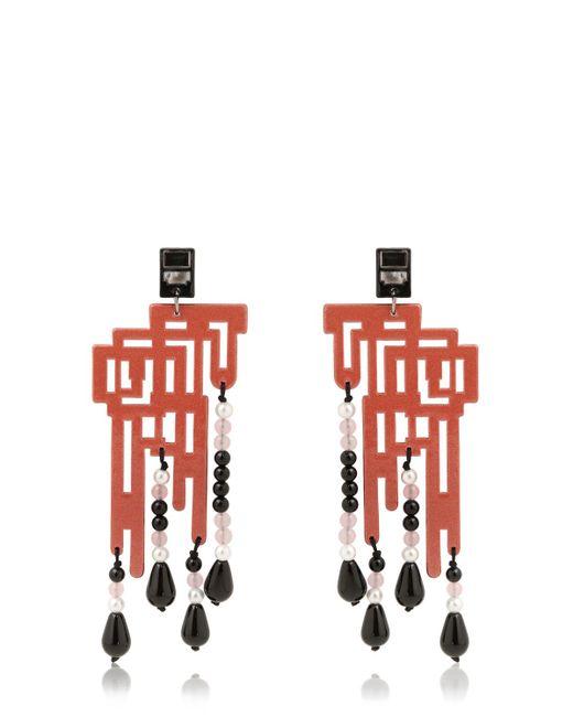 Anna E Alex   Red Labirinto Decò Earrings   Lyst