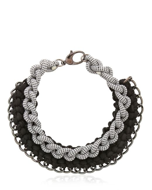 Alienina | Black Odyssee Rope Necklace | Lyst
