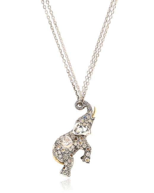 Bibi Van Der Velden | Metallic Elephant Necklace | Lyst