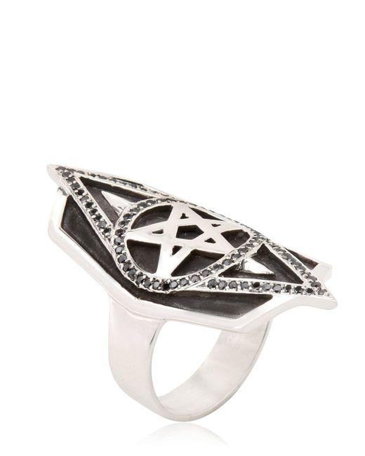 Meadowlark | Metallic Pentacle Ring | Lyst