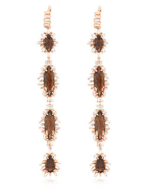 Suzanne Kalan | Metallic Diamond & Quartz Earrings | Lyst