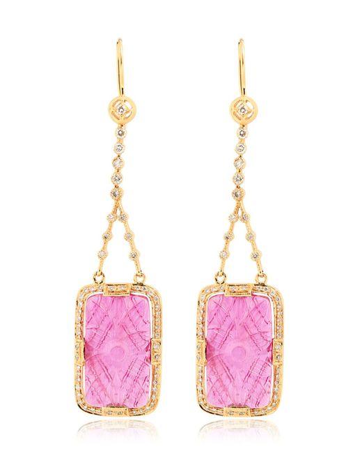 Jade Jagger | Purple Ruby & Diamonds Drop Earrings | Lyst