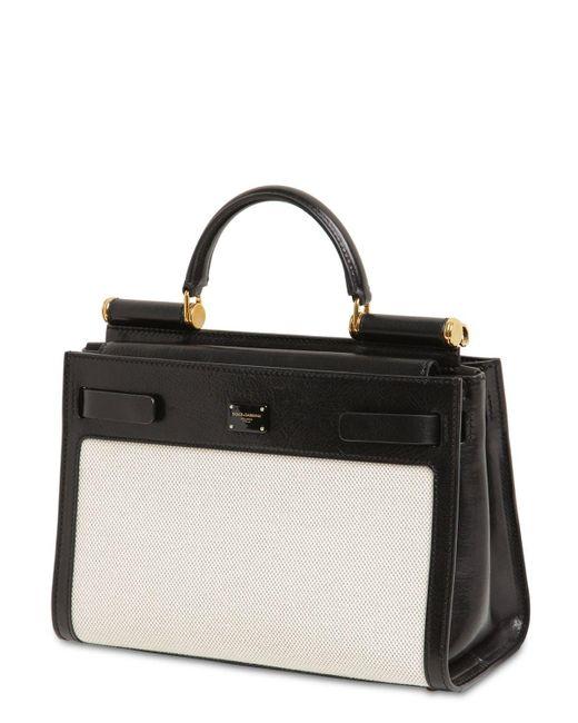 Сумка Из Кожи И Канваса Sicily 62 Dolce & Gabbana, цвет: Black