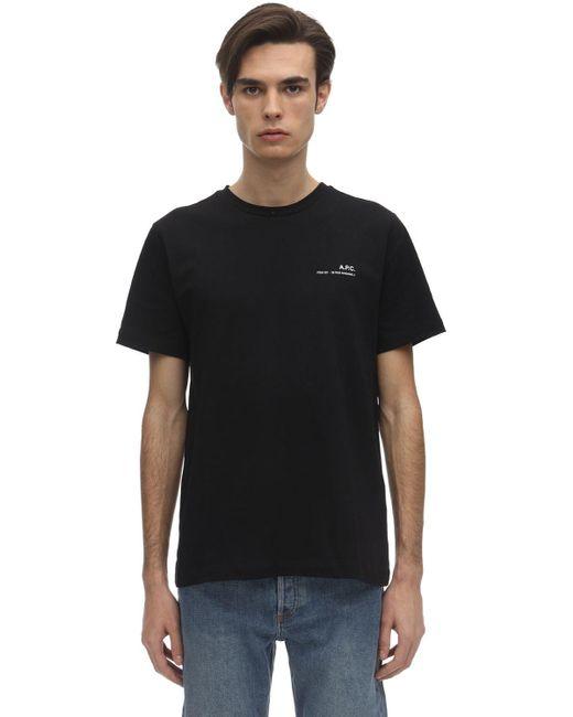 メンズ A.P.C. コットンジャージーtシャツ Black