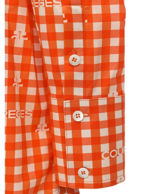 Courreges コットンポプリンシャツ Orange