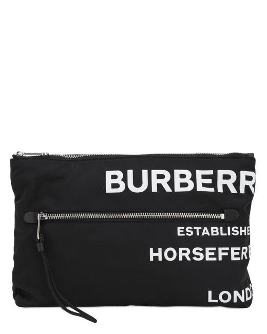 Burberry Duncan プリントテックポーチ Black