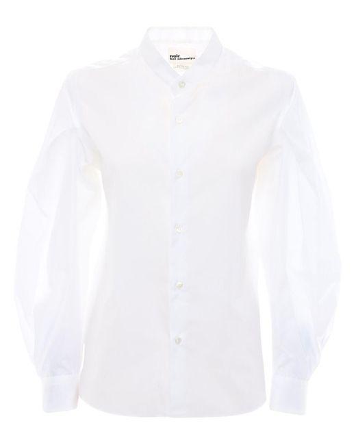 Noir Kei Ninomiya コットンポプリンシャツ White