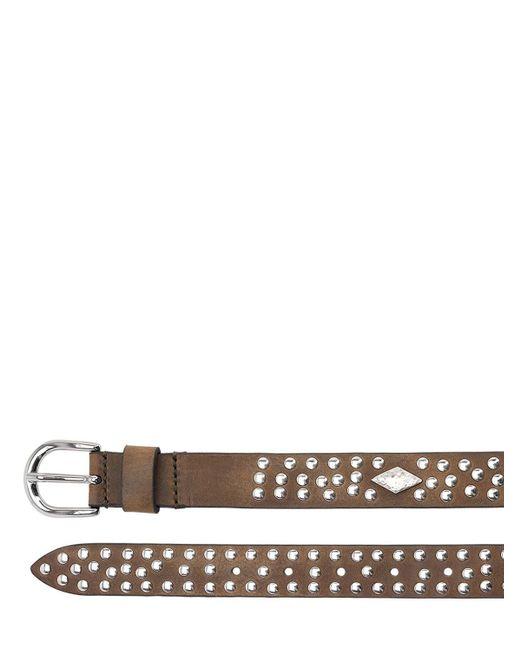 Кожаный Ремень С Заклепками Isabel Marant, цвет: Brown