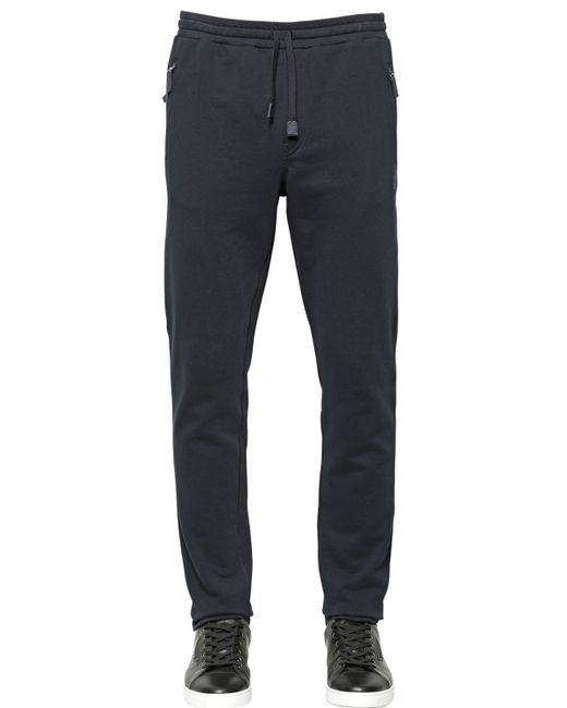 Dolce & Gabbana | Black Crown Embroidered Cotton Jogging Pants for Men | Lyst
