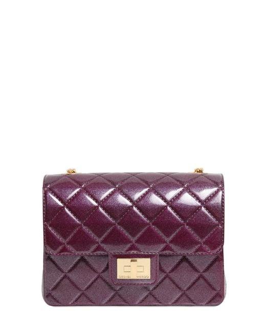 Designinverso | Purple Milano Quilted Effect Pvc Shoulder Bag | Lyst