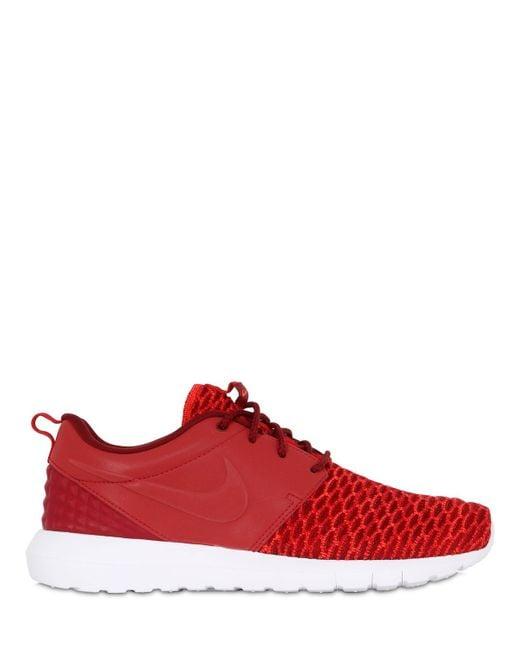 Nike | Orange Roshe Run Natural Motion Prm Sneakers | Lyst