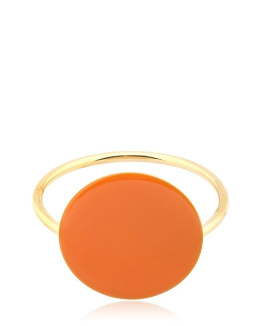 Isabel Marant | Orange Gold Plated Bracelet With Resin Detail | Lyst