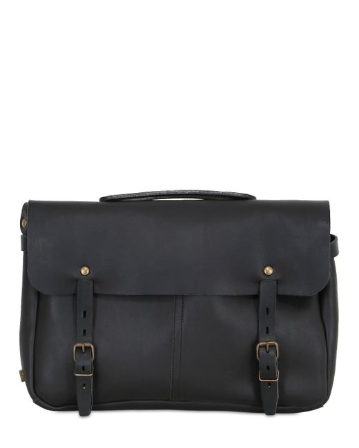 Bleu De Chauffe | Black Justin Handmade Leather Business Bag | Lyst