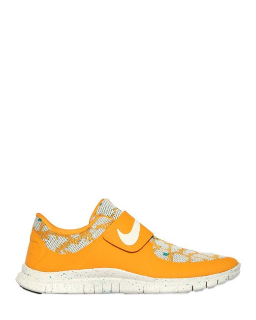 Nike | Yellow Free Sock Fly Techno Jacquard Sneakers for Men | Lyst
