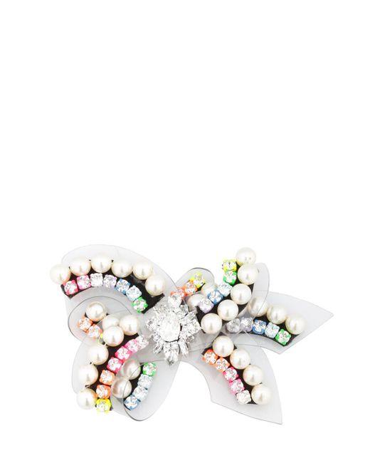 Shourouk | White Bow Rainbow Pin | Lyst