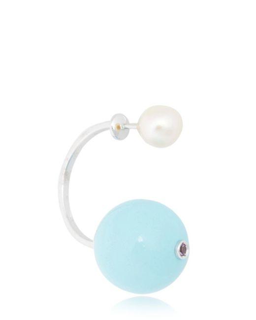 Delfina Delettrez   Blue Stone-edge Earring   Lyst