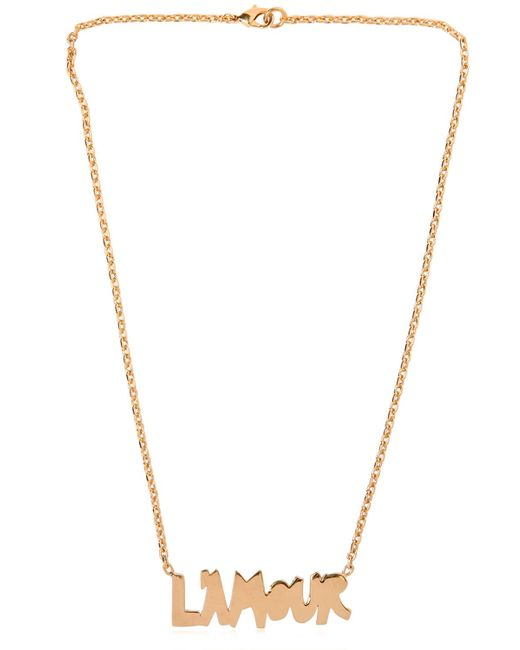 Valentino | Metallic 'l'amour' Necklace | Lyst