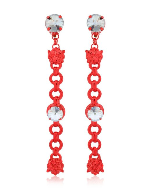 Halaby | Red Leo Earrings | Lyst
