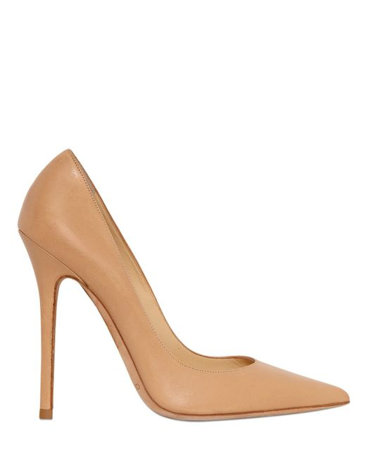 Jimmy Choo | Natural 120mm Anouk Leather Pumps | Lyst