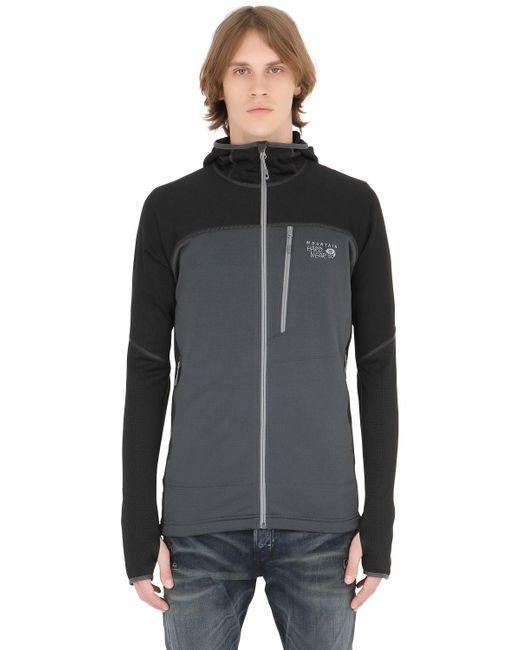 Mountain Hardwear | Gray Desna Grid Hooded Fleece Jacket for Men | Lyst