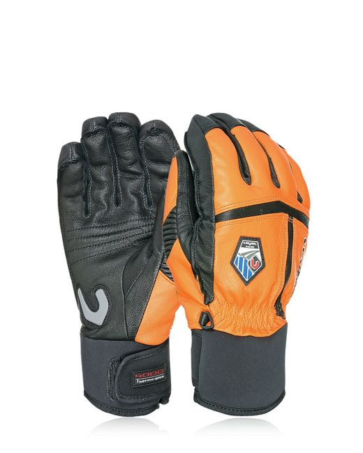Level Off Piste Leather Ski Gloves In Black For Men Lyst
